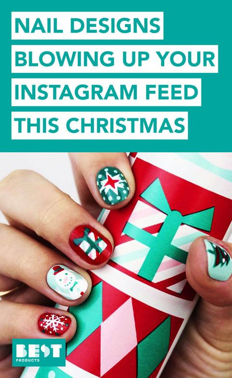 10 Best Holiday Nail Art Designs for 2018 - Festive