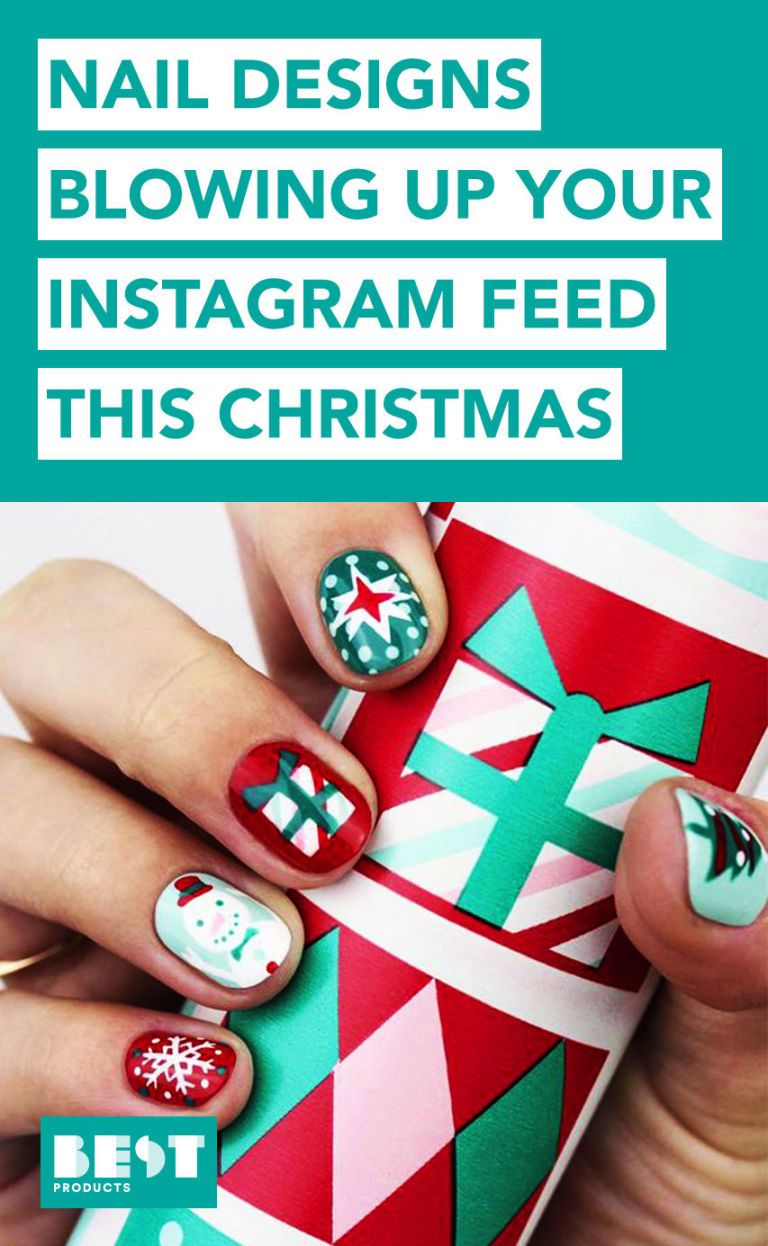 9 Best Holiday Nail Art Designs for 2018 - Festive Christmas Nail ...