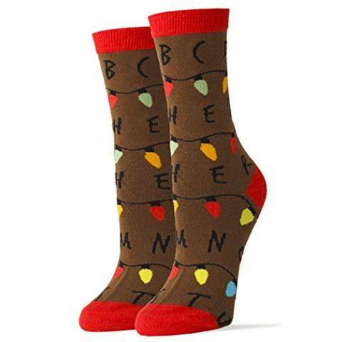 stranger things christmas socks