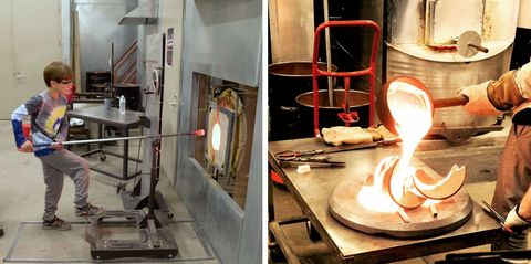 Take a glass blowing class at Urban Glass in Brooklyn, NYC