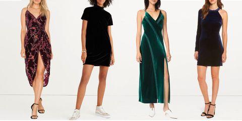 9b0454022 13 Best Velvet Dresses for 2018 - Long and Crushed Velvet Dresses