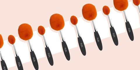 how to use oval makeup brushes  oval makeup brush
