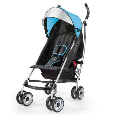 Summer Infant 3D Lite Convenience Stroller, Caribbean Blue
