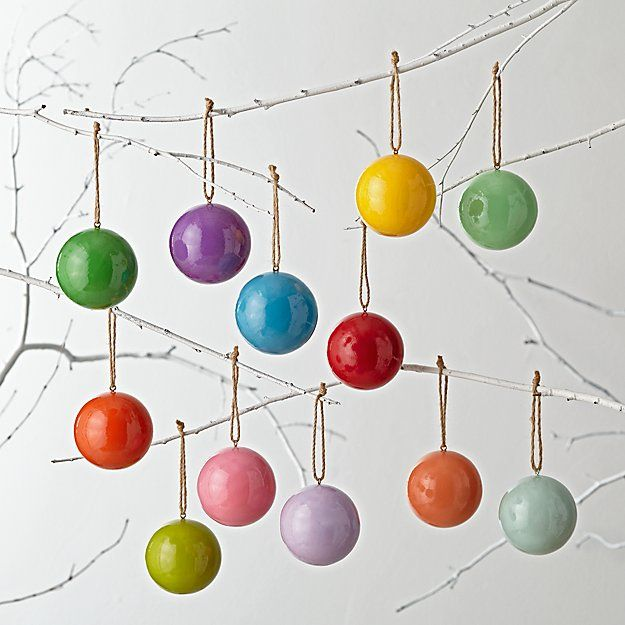 Land of Nod All the Colors of the Rainbow Ornaments
