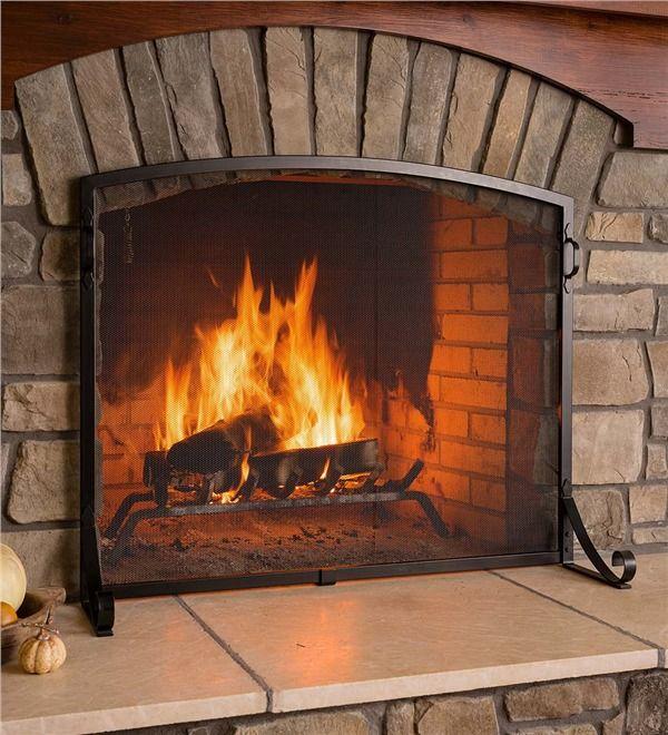 wooden fireplace screen. 10 Best Fireplace Screens for Winter 2018  Decorative Metal Glass