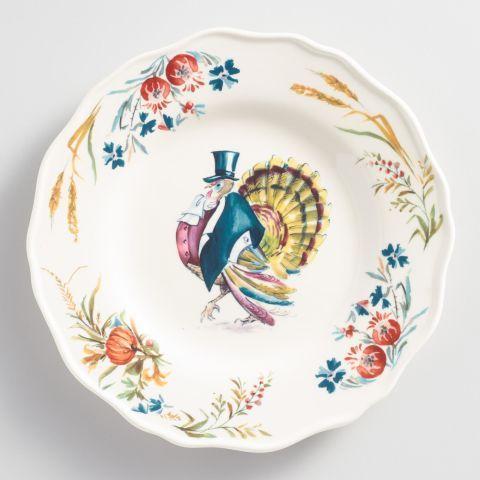 World Market Turkey Scalloped Plate