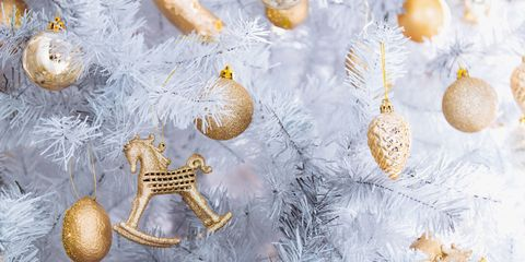 white christmas trees - Images Of White Christmas Trees Decorated