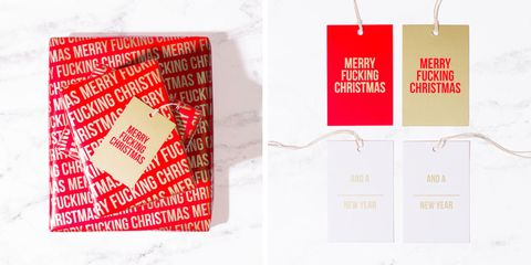 Swear Word Christmas Wrapping Paper - Cuss Word Wrapping Paper