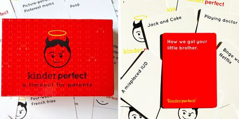 kinder perfect game for adults cards against humanity