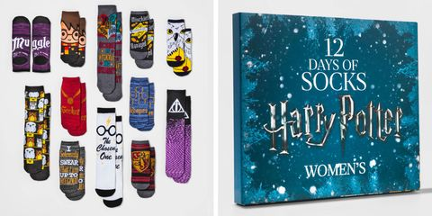 harry potter advent calendar of socks