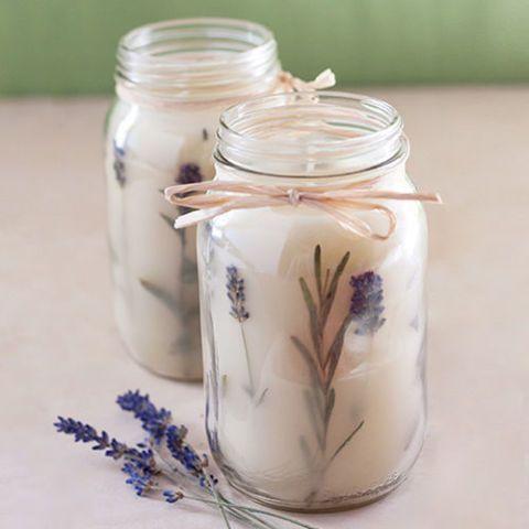 Mason Jar Herbal Candle