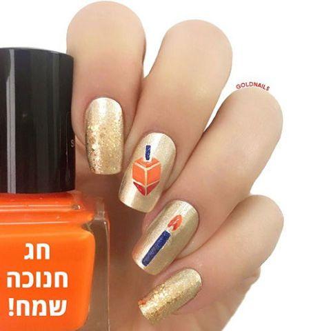 Hanukkah Nails