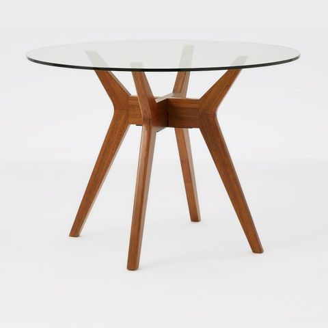 West Elm Jensen Round Glass Dining Table