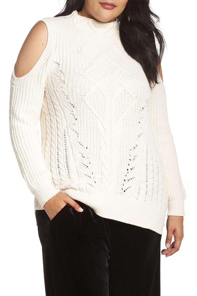 rachel rachel roy ivory cable knit sweater