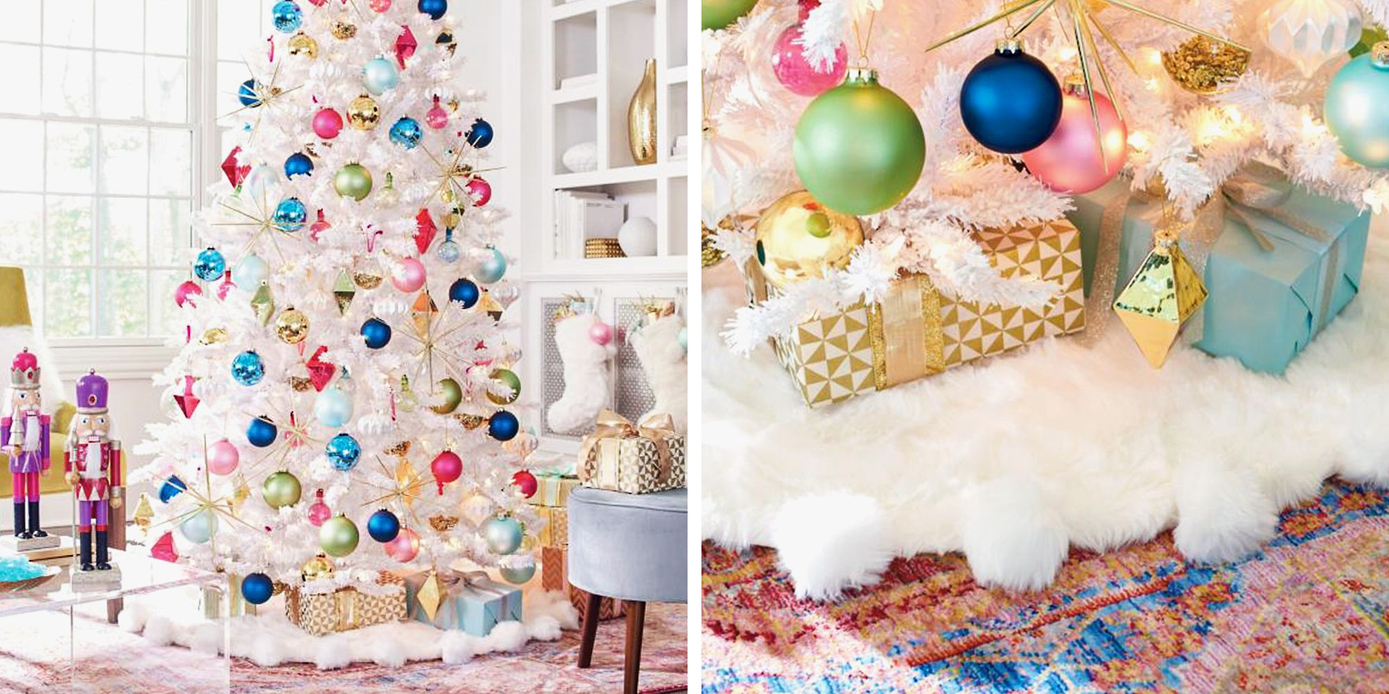 10 Best Christmas Tree Skirts for 2018 - Elegant White, Gold & Red Tree Skirts