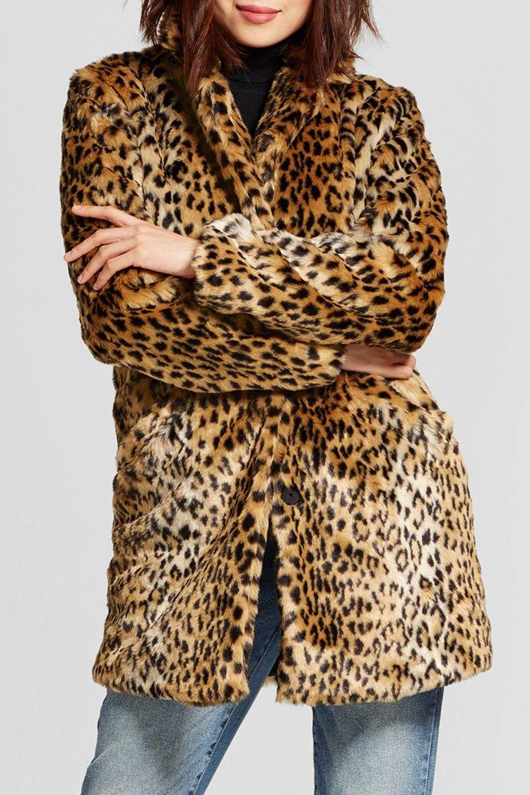 target leopard faux fur coat