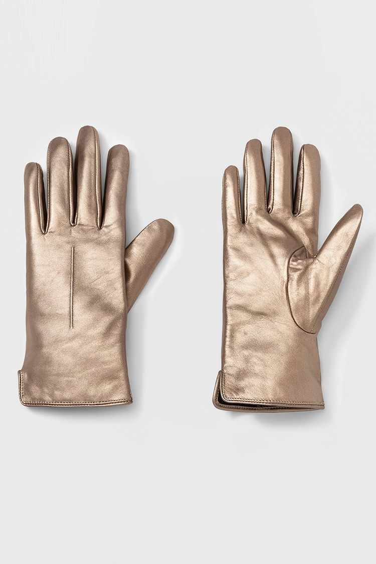 target gold leather gloves