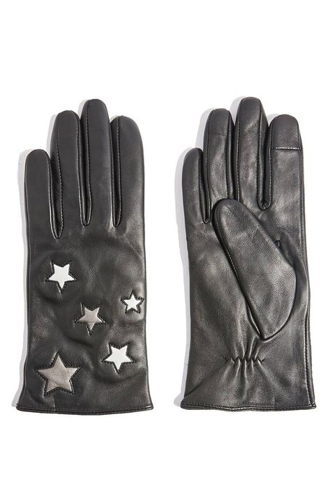 topshop star leather gloves