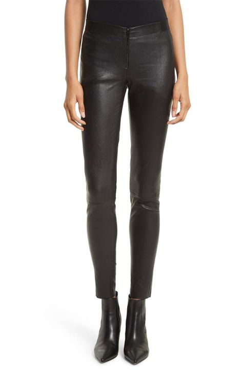 alice and olivia leather leggings