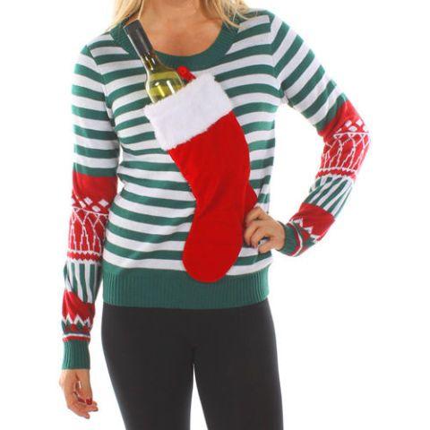 wine holder christmas sweater
