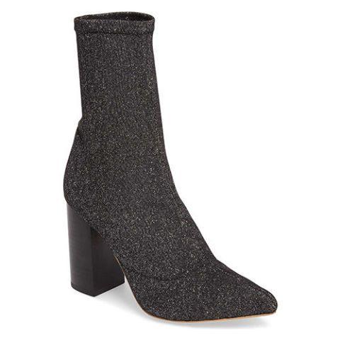 raye glitter sock booties