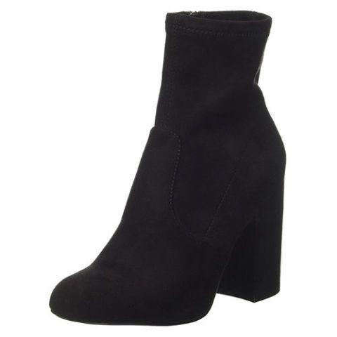 steve madden graze black sock booties
