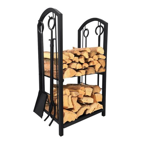 Amagabeli Fireplace Log Rack