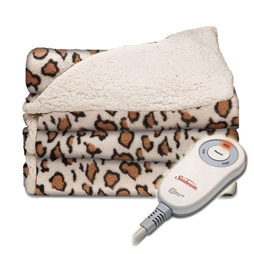 Sunbeam Electric Throw Reversible Imperial Plush with Sherpa