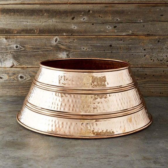 Williams-Sonoma Hammered Copper Tree Skirt