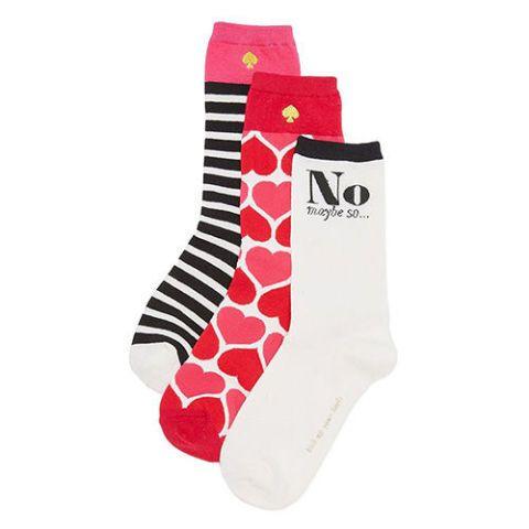 kate spade heart socks