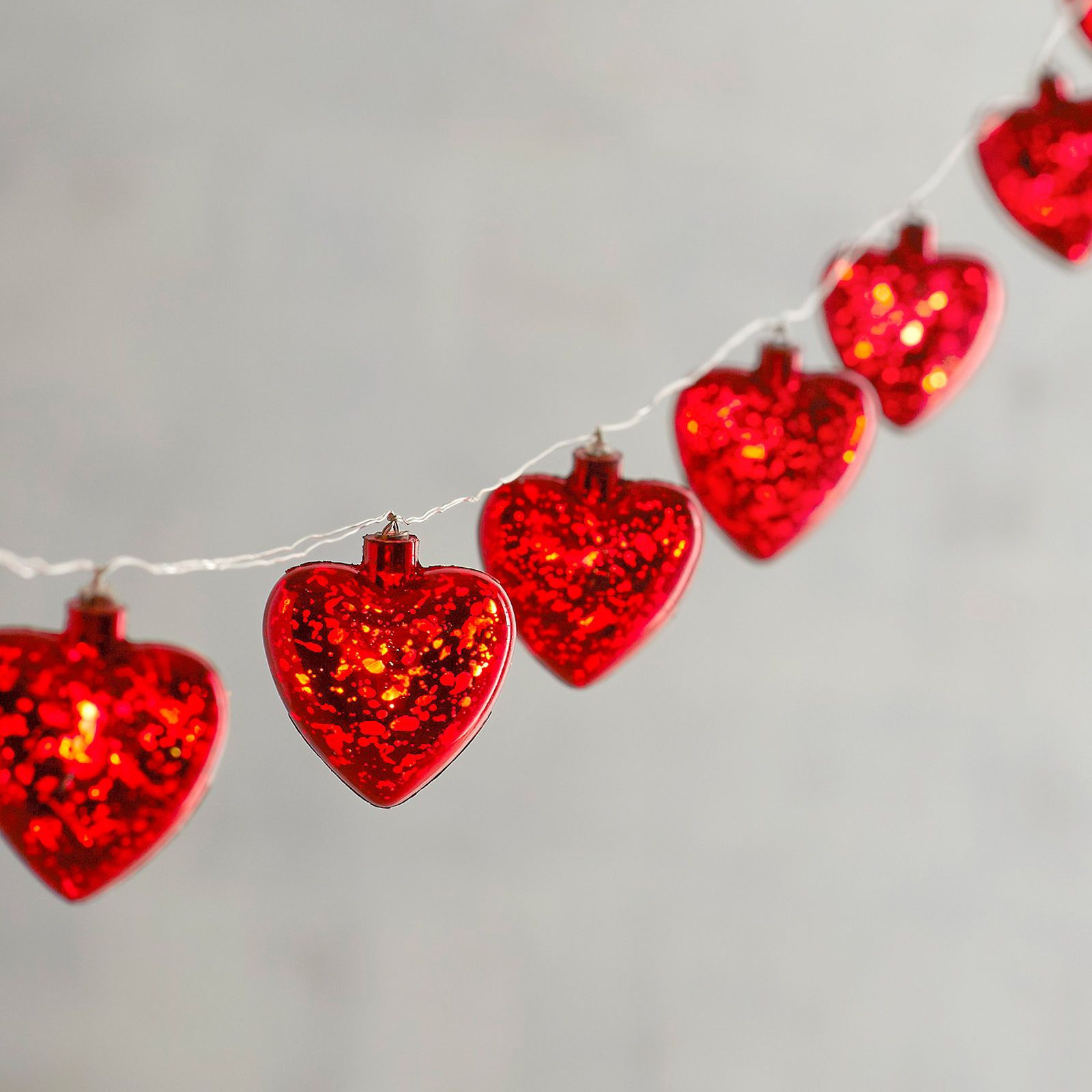 Pier 1 Imports Valentine's Day Red Heart 10' LED Glimmer Strings