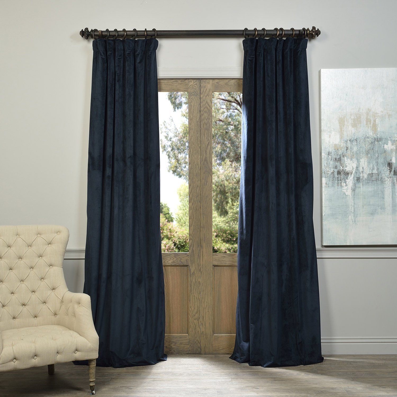 Half Price Drapes Signature Blackout Velvet Curtain