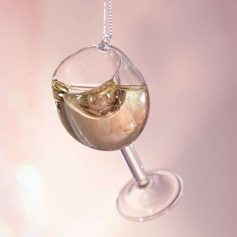 Urban Outfitters Wine Glass Christmas Ornament