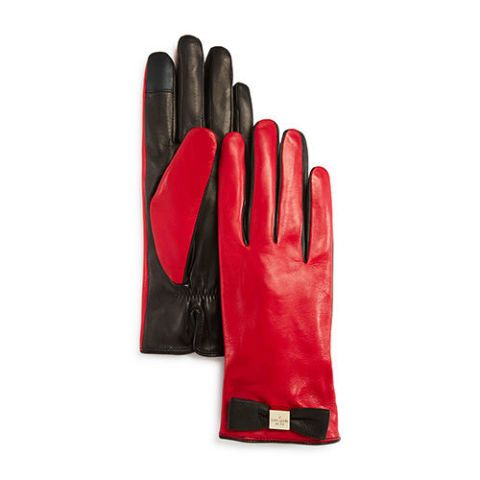 Kate Spade Wine//Black Leather Gloves X Large Tech Friendly Accessory