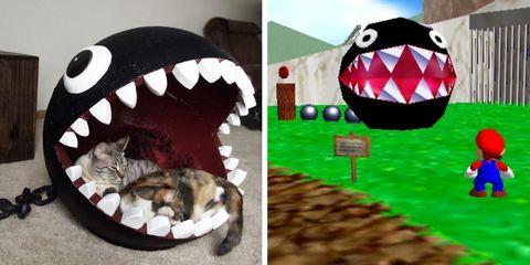 Super Mario Chain chomp Cat Bed