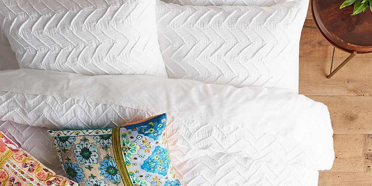 stylish pillow update and bed white inserts cotton bedrooms washed with covers bath shams organic crate duvet barrel