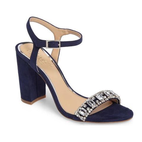 badgley mischka jewel blue wedding shoes