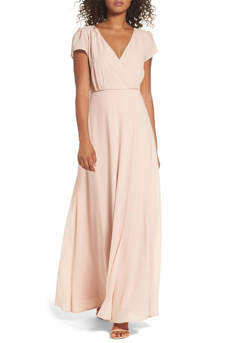 lulus lace up back blush gown