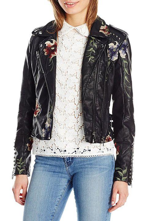 blank nyc floral moto jacket