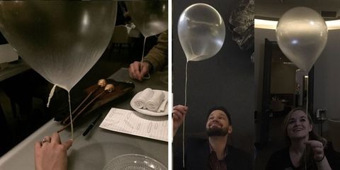 Glass, Tableware, Balloon, Kitchen utensil, Champagne stemware, Stemware, Plate, Party supply, Cutlery, Science,
