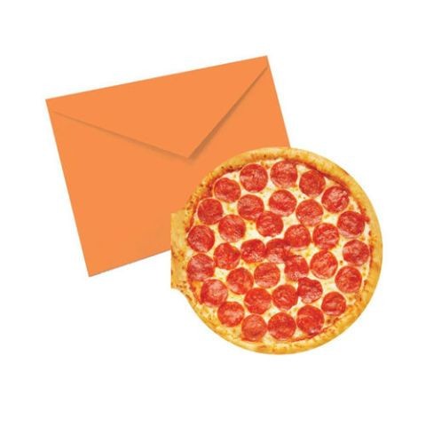 Pizza Shaped and Scented Notecards