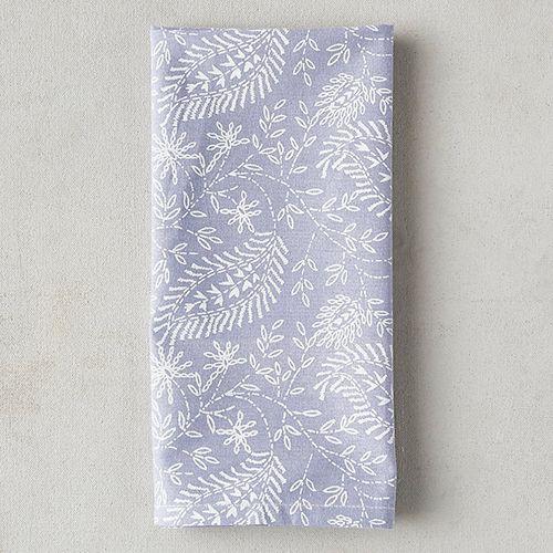 Terrain Periwinkle Paisley Cotton Napkin