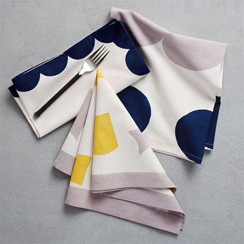 West Elm Hand-Blocked Geo Napkins