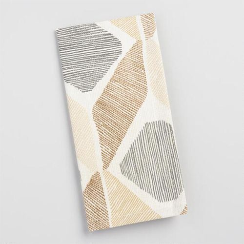 World Market Taupe Diamond Morris Napkins