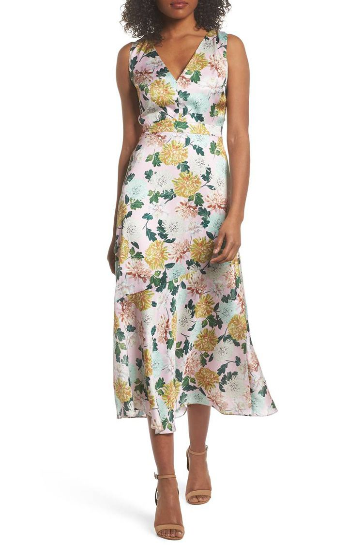 sam edelman satin floral dress