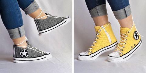 new arrival 72dbf dea09 These Knitted Slippers Look Exactly Like Nike and Converse ...