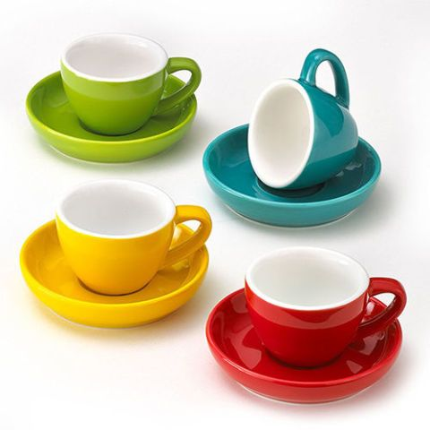 Easy Living Goods Espresso Cups and Saucers