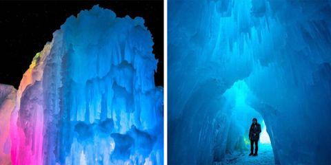 Dillon Ice Castles in Colorado