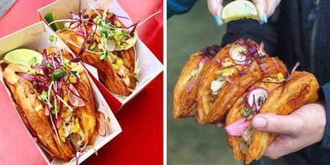 Vive La Tarte in San Francisco created the tacro, a taco-croissant hybrid