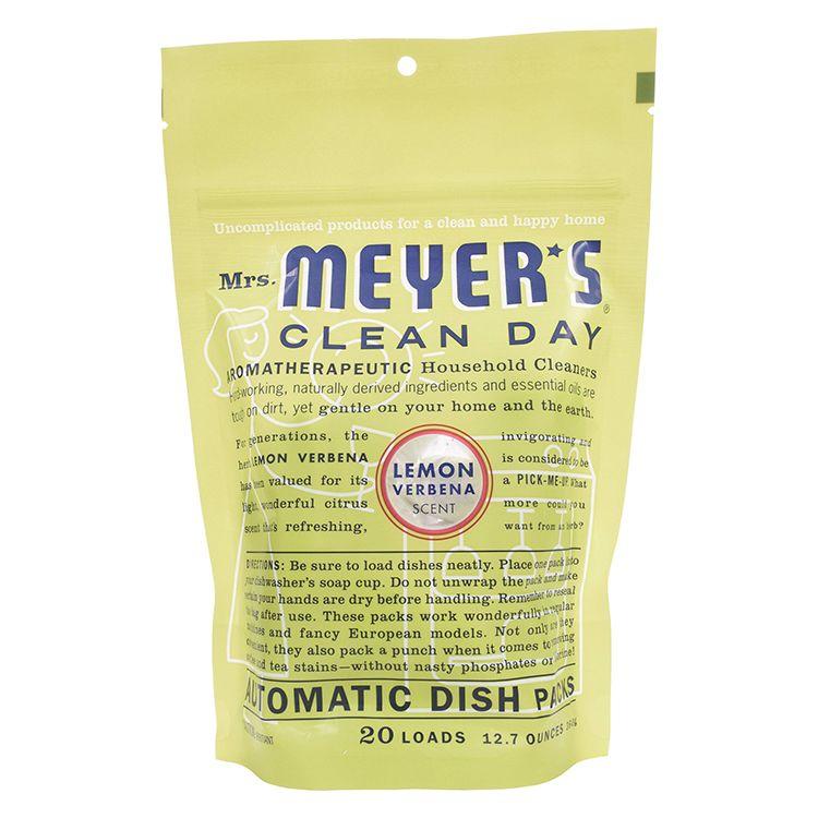 Mrs. Meyer's Lemon Verbena Automatic Dishwasher Detergent Packs